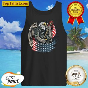 American Bald Eagle Shirt Flag USA America 4th of July Gift Tank Top