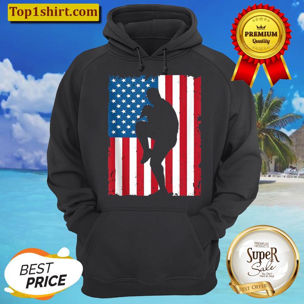 BASEBALL AMERICAN FLAG VINTAGE SPORTS USA Hoodie