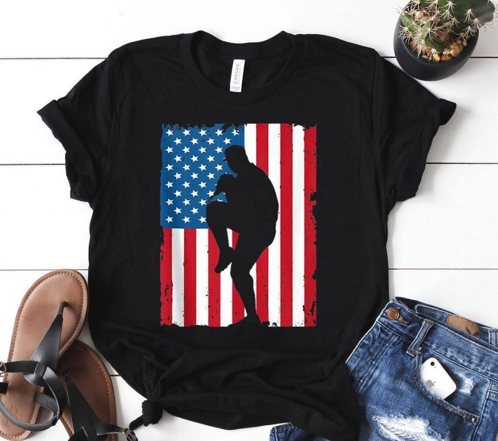 BASEBALL AMERICAN FLAG VINTAGE SPORTS USA Shirt