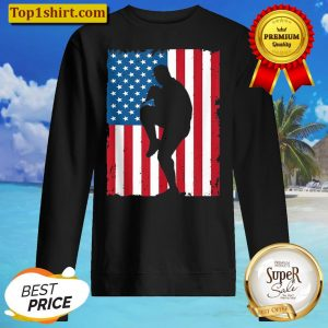 BASEBALL AMERICAN FLAG VINTAGE SPORTS USA Sweater