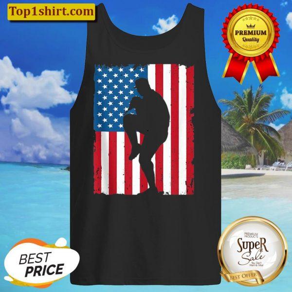 BASEBALL AMERICAN FLAG VINTAGE SPORTS USA Tank Top