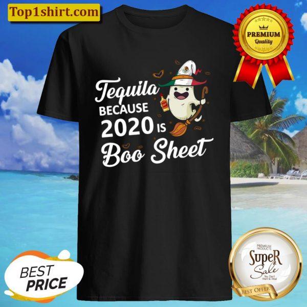 Boo sheer witch 2020 tequila halloween Shirt