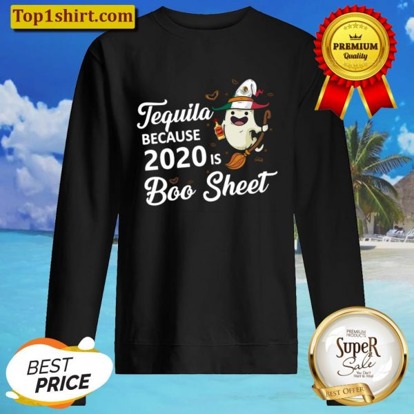 Boo sheer witch 2020 tequila halloween Sweater