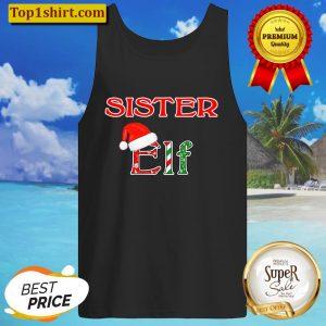 Christmas Holiday Elf Family Sister Tank Top