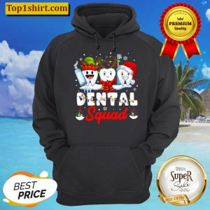 Dentist Hygienist Christmas Dental Squad Outfit Hoodie