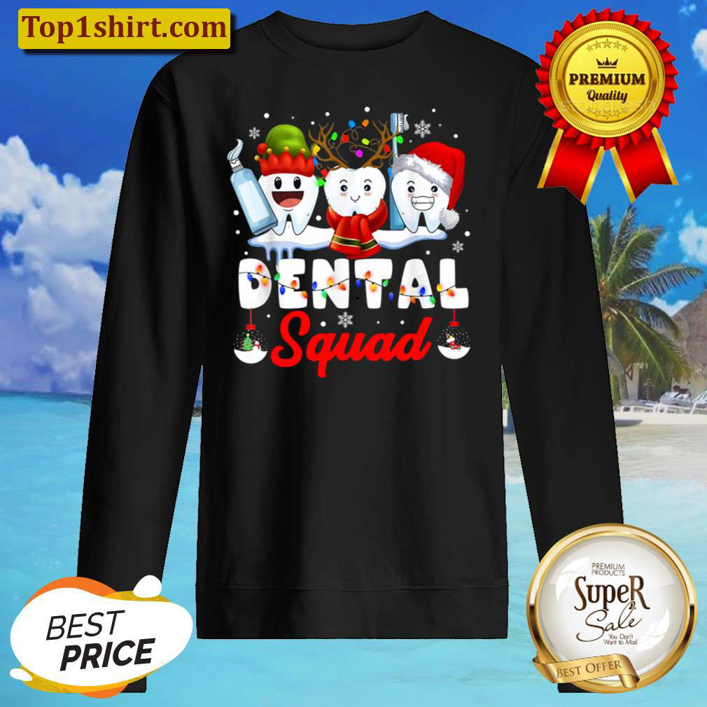 Dentist Hygienist Christmas Dental Squad Outfit Sweater