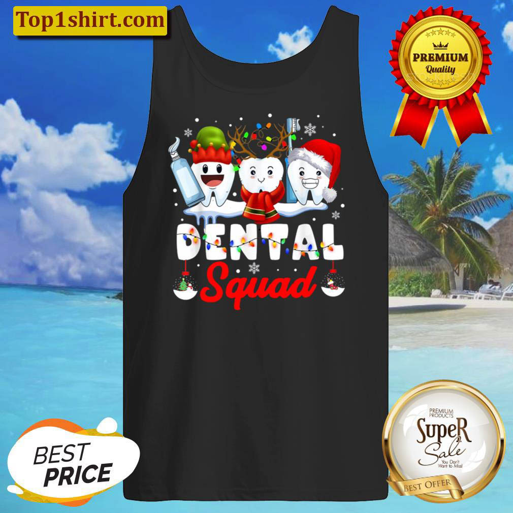 Dentist Hygienist Christmas Dental Squad Outfit Tank Top