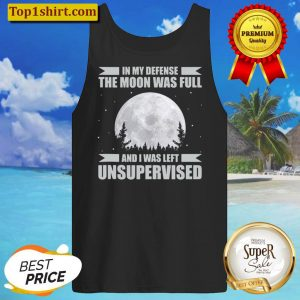 Funny Wicca In My Defense Full Moon Witch Pagan Halloween Tank Top