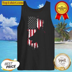 German Shepherd American Flag Shirt Usa Patriotic Dog Gift Tank Top