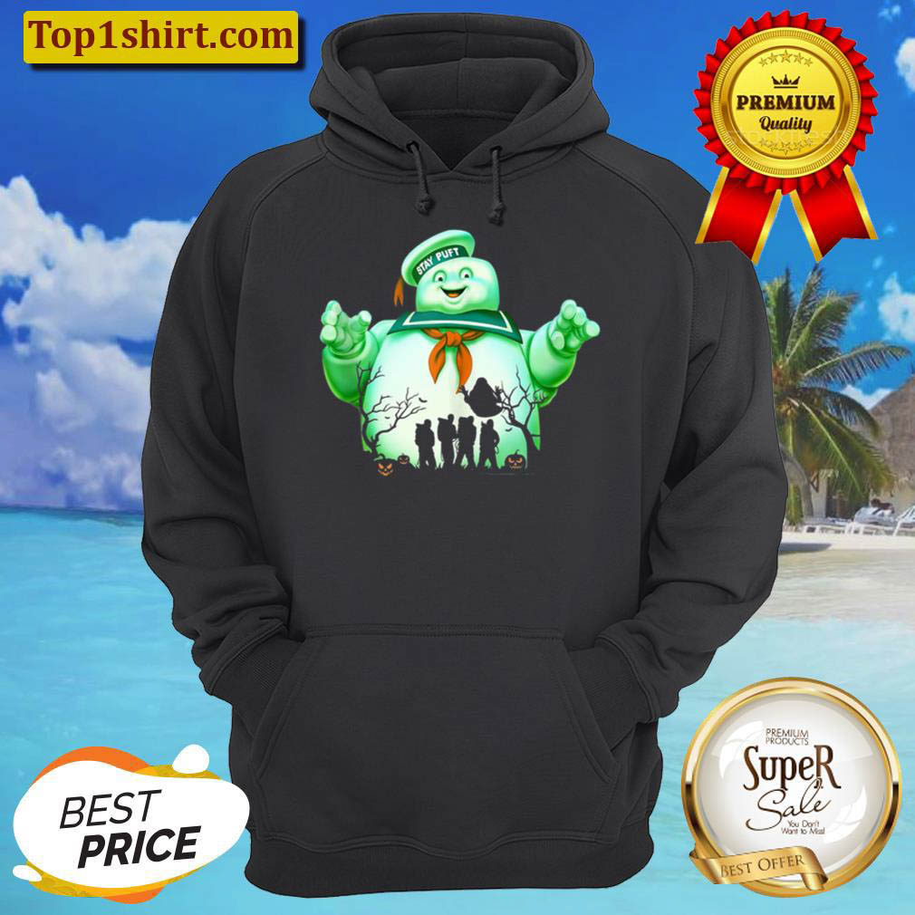 Ghostbusters Marshmallow Man Group Shot Silhouette Hoodie