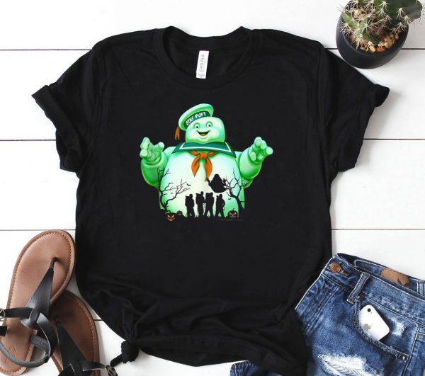 Ghostbusters Marshmallow Man Group Shot Silhouette Shirt