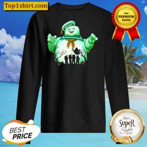 Ghostbusters Marshmallow Man Group Shot Silhouette Sweater