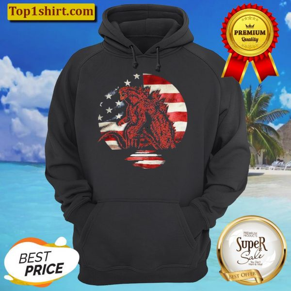Godzilla American flag Hoodie