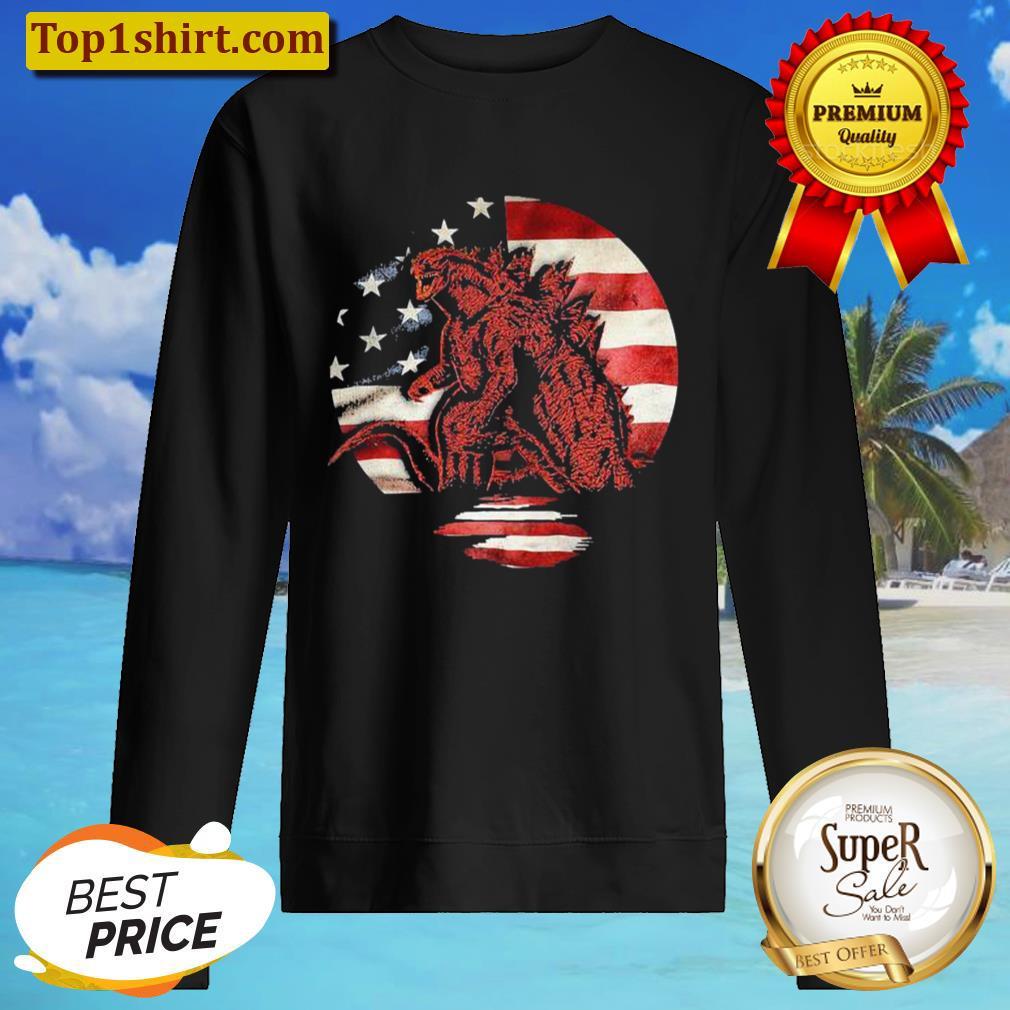 Godzilla American flag Sweater