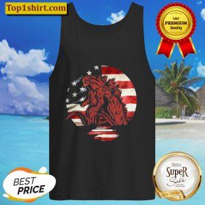 Godzilla American flag Tank Top
