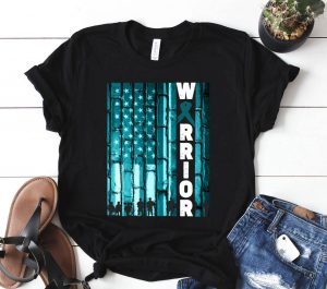 I m A Warrior American Flag Shirt Fight PTSD Awareness Shirt