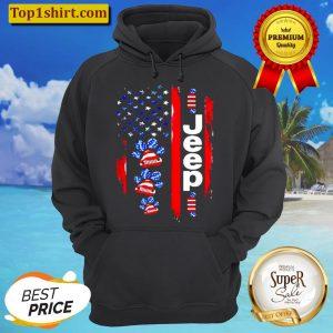 JEEP DOGS AMERICAN FLAG Hoodie