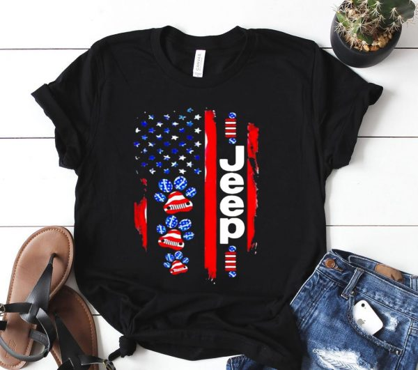 JEEP DOGS AMERICAN FLAG Shirt