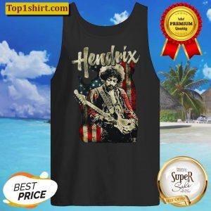 Jimi Hendrix American Flag Music Legend Tank Top
