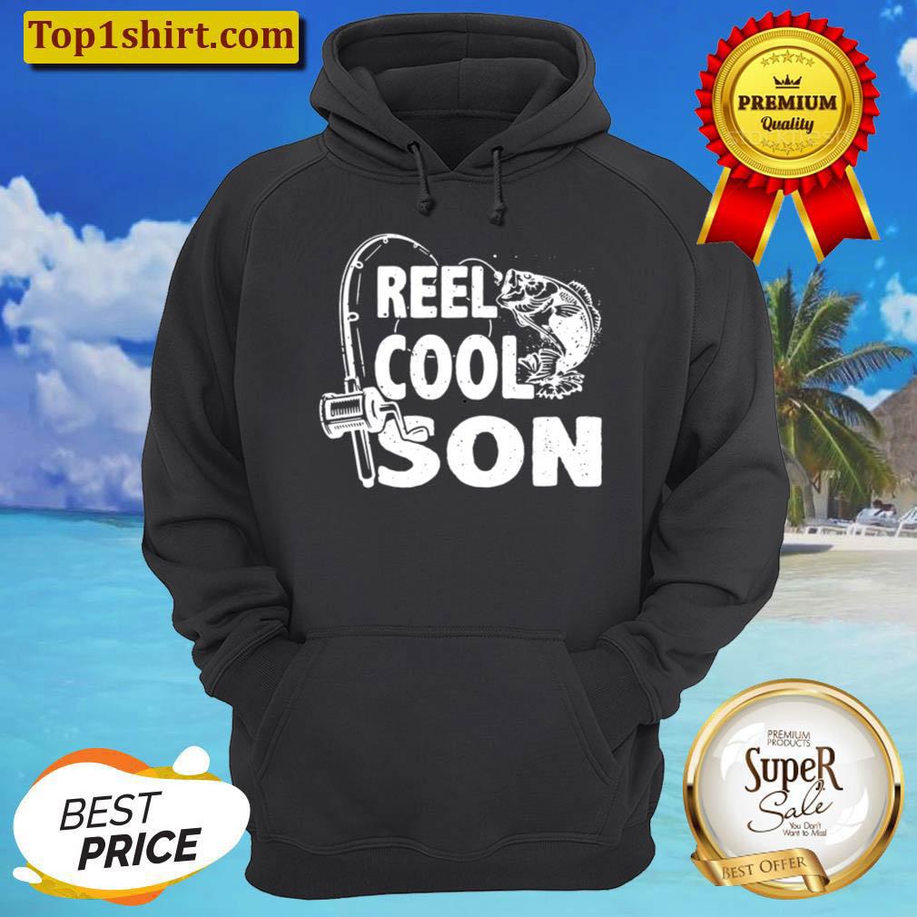 Kids Vintage Reel Cool Son Birthday Fishing Boy Girls Kids Gifts Hoodie