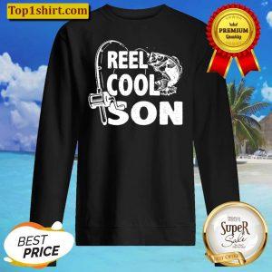 Kids Vintage Reel Cool Son Birthday Fishing Boy Girls Kids Gifts Sweater