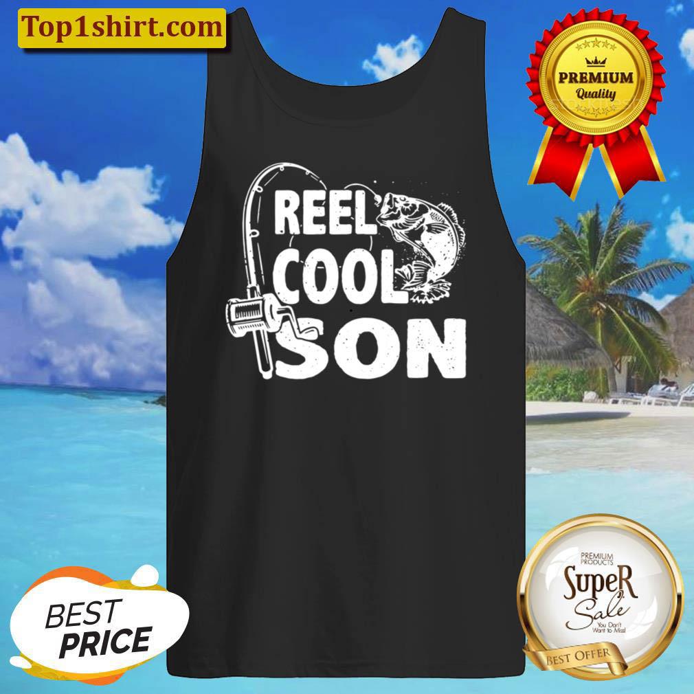 Kids Vintage Reel Cool Son Birthday Fishing Boy Girls Kids Gifts Tank Top