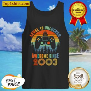 Level 18 Unlocked Awesome Since 2003 18th Birthday Tank Top