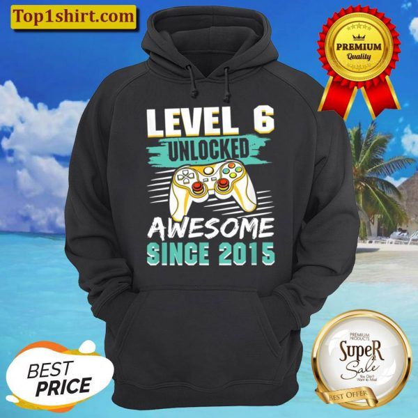Level 6 Unlocked Awesome 2015 Video Game 6th Birthday Boys Hoodie