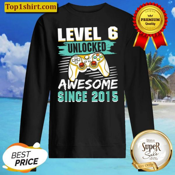 Level 6 Unlocked Awesome 2015 Video Game 6th Birthday Boys Sweater