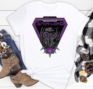 Marvel WHAT IF… TChalla Star Lord Helmet Classic Shirt