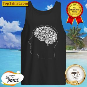 Mens Funny design men only think of one thing (sex) Tank Top