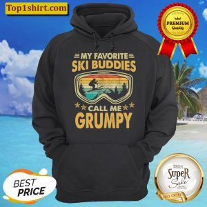 Mens Skiing My Favorite Ski Buddies Call Me GRUMPY Hoodie