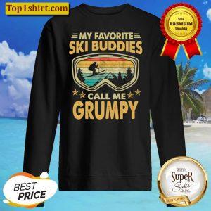 Mens Skiing My Favorite Ski Buddies Call Me GRUMPY Sweater