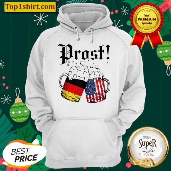 Prost Beer German American Flag Oktoberfest Men Mug Hoodie