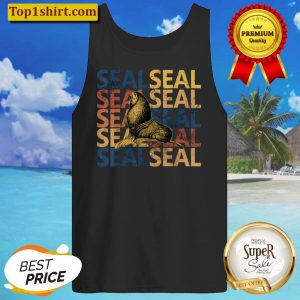 Seal Design Vintage and Retro Style Tank Top