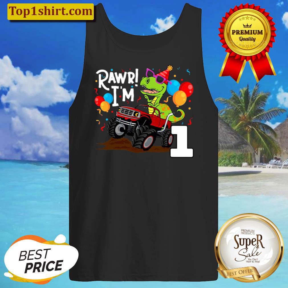 T Rex Dinosaur Monster Truck Birthday S For Boys Tank Top