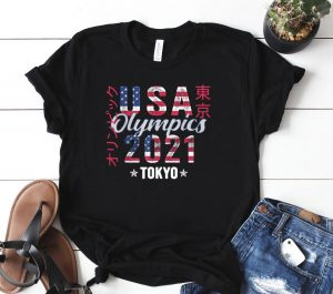 Team USA Shirt for American Flag Tokyo Olympics 2021 Shirt