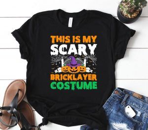 This Is My Scary Bricklayer Costume Halloween Witch Pumpkin Classic Shirt