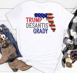 Trump desantis grady gun American flag Shirt