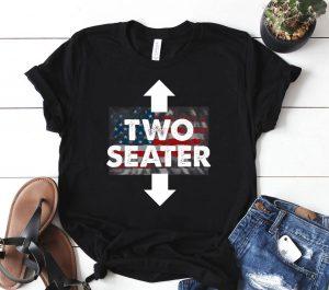Two Seater Shirt American Flag Usa Adult Polygamy Mens Gift Shirt