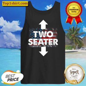 Two Seater Shirt American Flag Usa Adult Polygamy Mens Gift Tank Top