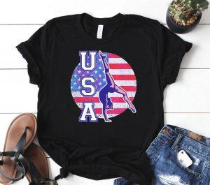 USA Gymnast American Flag Shirt
