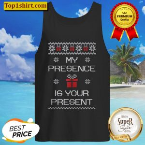 Ugly Christmas Sarcastic Graphic Present Gift Funny Quote Tank Top