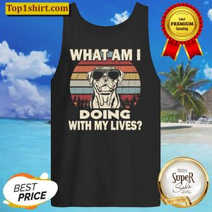 What am I doing with my lives Rottweiler funny Tank Top