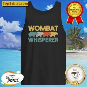 Wombat Whisperer Lover Retro Tank Top