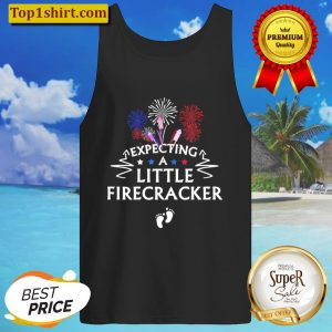 Womens 4Th Of July Pregnancy Announcement Tank Baby Reveal Tank Top