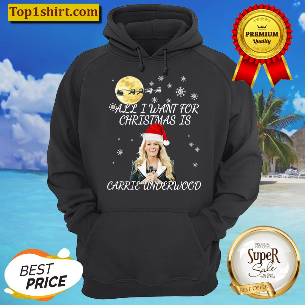 all i want for christmas is you carrie underwood unisex hoodie