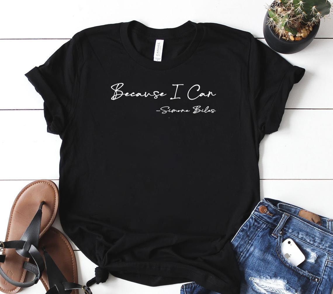 because i can simone biles classic shirt