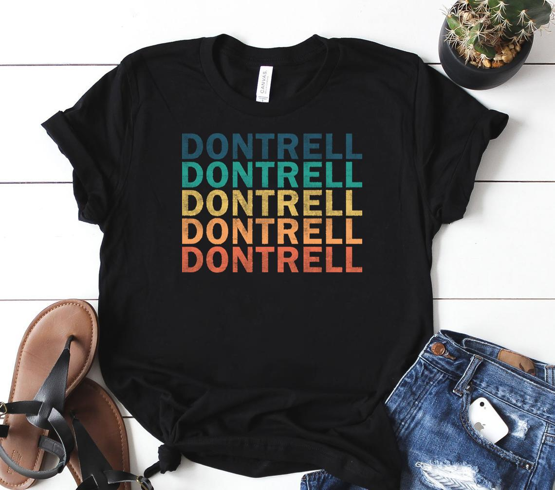 dontrell name t dontrell vintage retro name gift item tee classic shirt