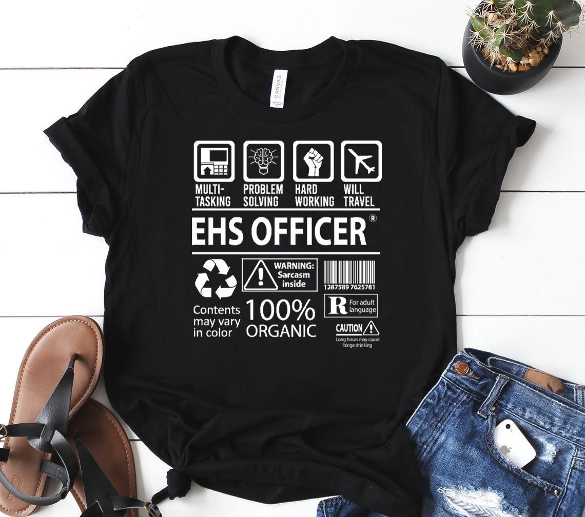 ehs officer t multitasking certified job gift item tee classic shirt